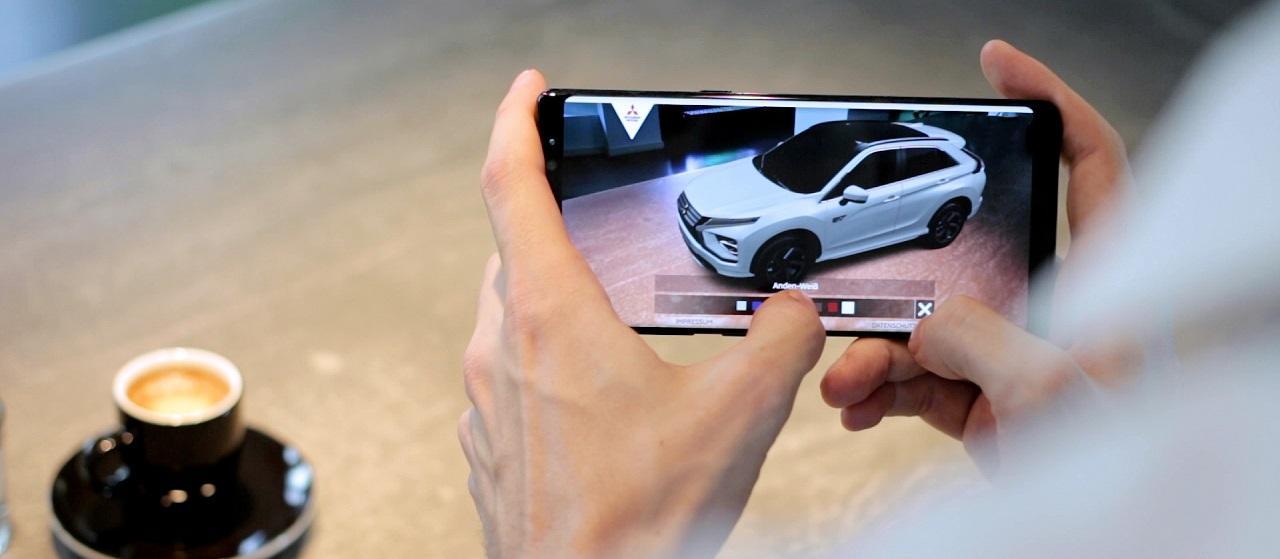 Mit Augmented Reality den neuen Mitsubishi Eclipse Cross nach Hause holen